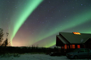 Northern lights at the summer house | by Now in Iceland