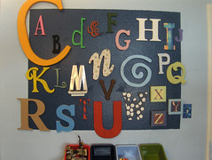 alphabet mural | by Waaybusycraftin'