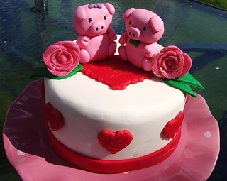 Piggy Anniversary Cake | by Thefancyladygourmet