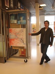 Erik displays some of the art collection | by The Shifted Librarian