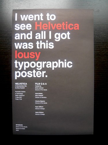 RIT Helvetica Poster | by AisleOne