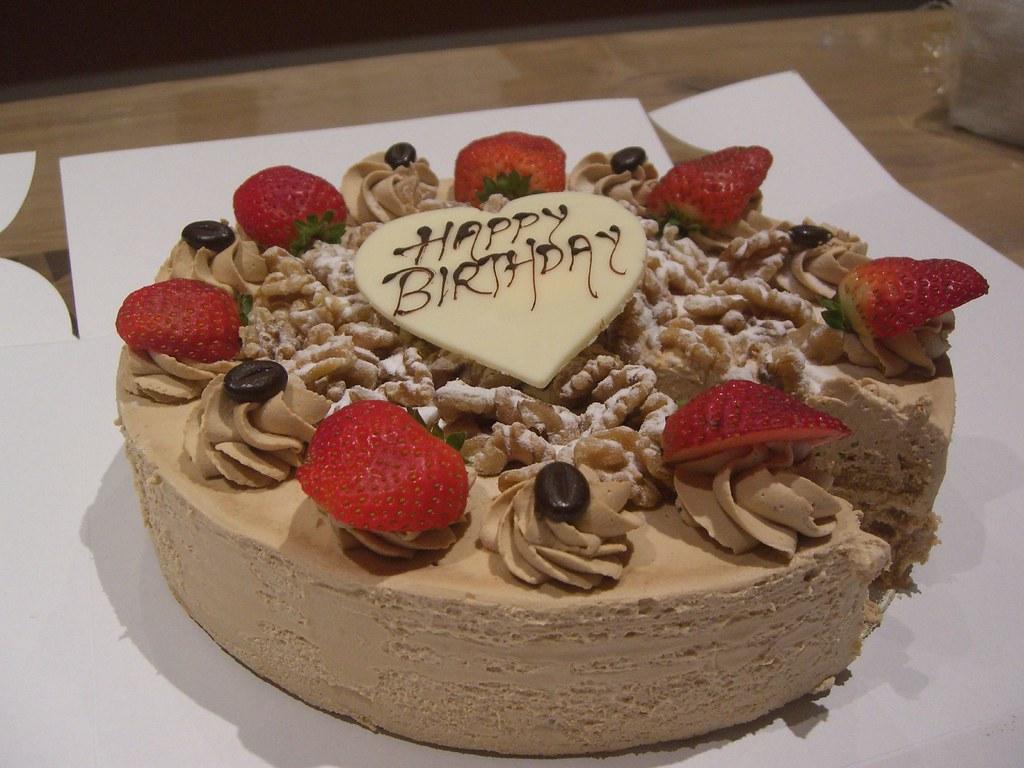 Alphas Coffee And Walnut Cake Carrington Cake Shop Box Flickr