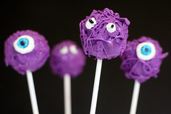 Purple Monster Cake Pops | by Bakerella
