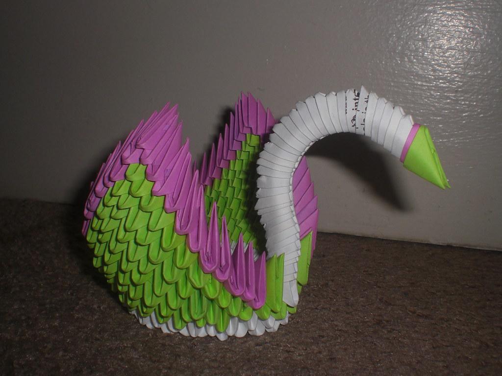 3d Origami Swan Waterforestnature Flickr