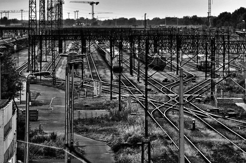 trains and tracks BW | by jake.morawski