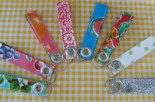 oilcloth key fobs crafting 365 day 48 | by RickRackQueen
