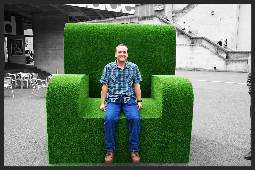 ... Kieran in a big green chair on the South Bank | by ec1jack  sc 1 st  Flickr & Kieran in a big green chair on the South Bank | 30th MAY: SOu2026 | Flickr