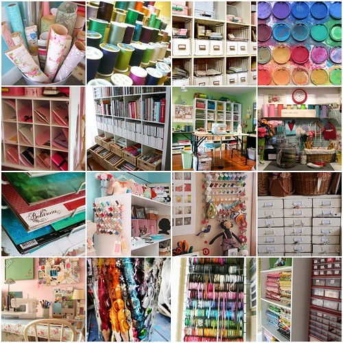 Some of My Favorite Crafting Spaces | 1. The Posie studio ...