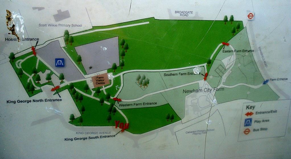 Newham City FarmKing George Park map Kake Flickr