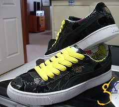 puma basket 68 comic print