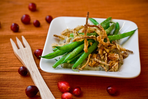 Deconstructed Green Bean Casserole | www.veganyumyum.com | Lauren ...