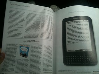 Wicked clever @Kindle ad in @Forbes mag: last section of article is on Kindle screen | by dpstyles™