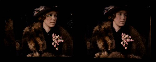 Woman wearing fur stole and corsage | by George Eastman Museum