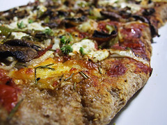 Garlic Mushroom, Ricotta and Rosemary Pizza with a Whole Wheat Crust ...