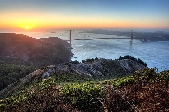 SF Sunrise from Marin Headlands