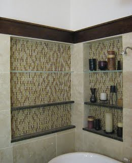 Master Bathroom Niche Wall Niches with Glass and Stone Flo Flickr