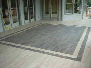 Tiled Porch Quot Wood Look Quot Tile Used To Create This Back