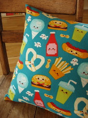 Smiling Food Friends Pillow II | by doodlebugfinery