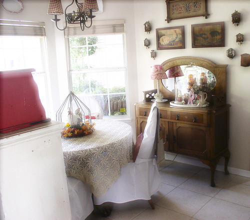 Our little nook in the kitchen. | by sweetcottagedreams