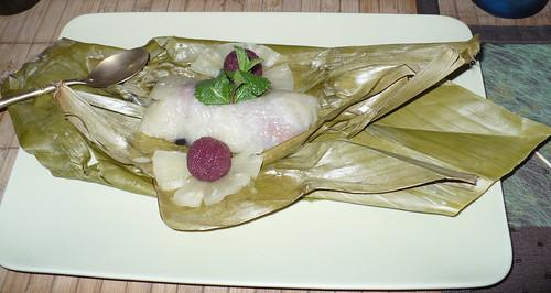 dessert rice cake with banana 39 gateau 39 de riz la ban flickr. Black Bedroom Furniture Sets. Home Design Ideas