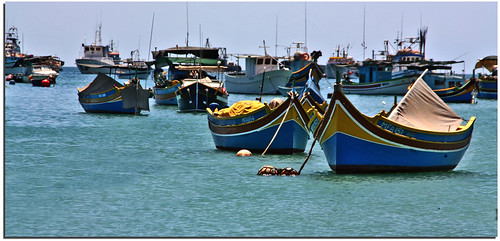 malta isle marsaxlokk * fishing village * boats | by paololivorno