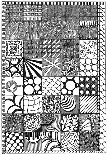 Zentangle Sampler | by tropicalart77 (Tammy Dial Gray)