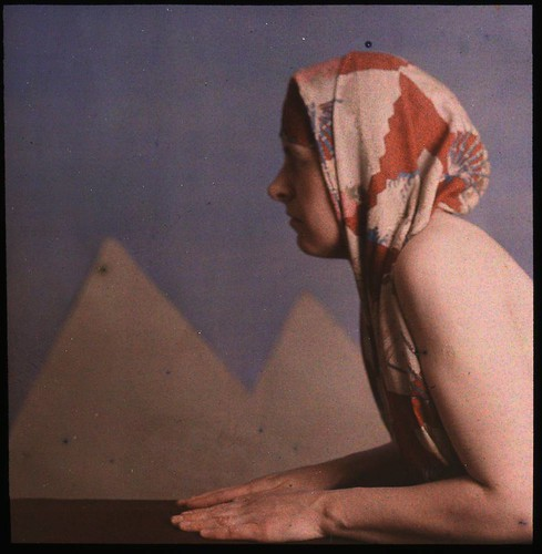 Woman posed as sphinx | by George Eastman Museum