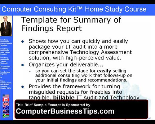 Computer Consulting Kit IT Audit Consulting Report Tem – Consulting Report