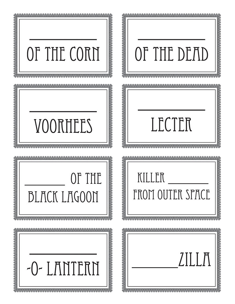 halloween name tags - cup markers 2 | blogged at swelldesign… | flickr