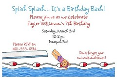 Pool Party Invitations | by Kid's Birthday Parties