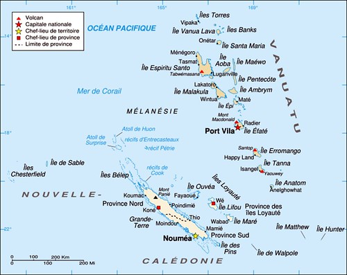 A01 Vanuatu Map and New Caledonia Map of Mlansian area w Flickr