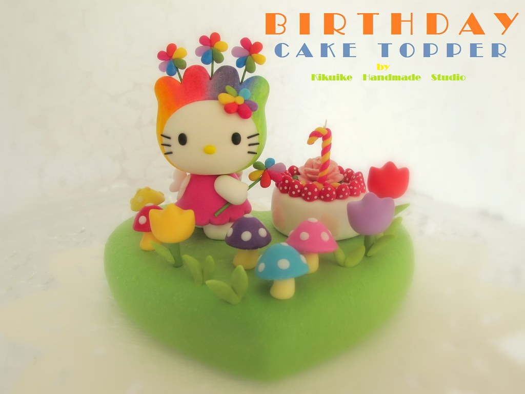 Hello Kitty birthday cake topper hellowelcome to kikuike Flickr