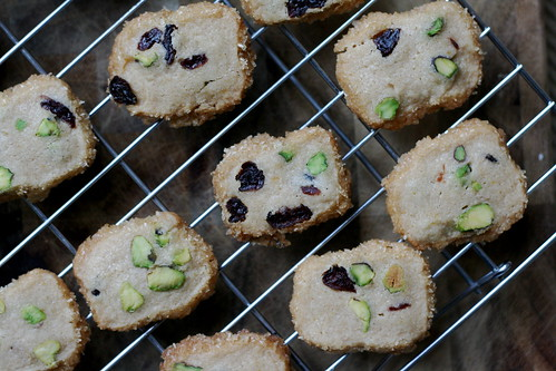 Pistachio-Cranberry Icebox Cookies | by kristin :: thekitchensink