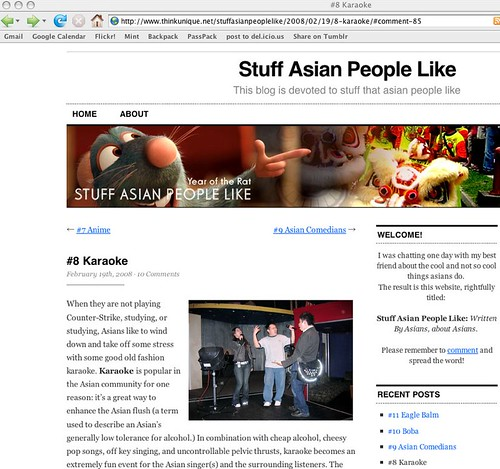 what asian people like blog