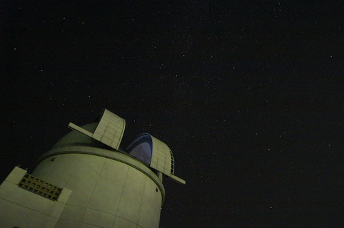 Stars and an astronomical observatory