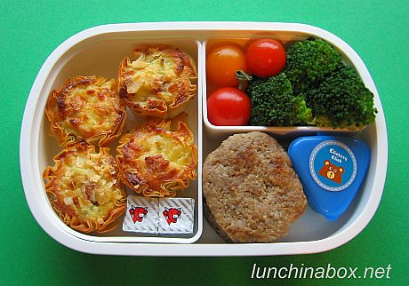 Mini quiche bento lunch for live TV shoot | by Biggie*