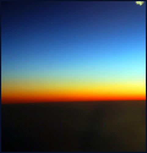 sunset from airplane | by tiffa130