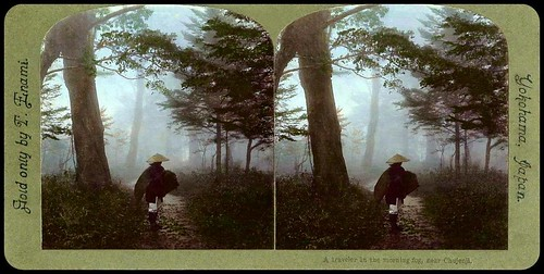 PILGRIM ON A FOREST ROAD -- Stepping Out from the Mist of Old Japan -- (Cross-eyed View) | by Okinawa Soba (Rob)