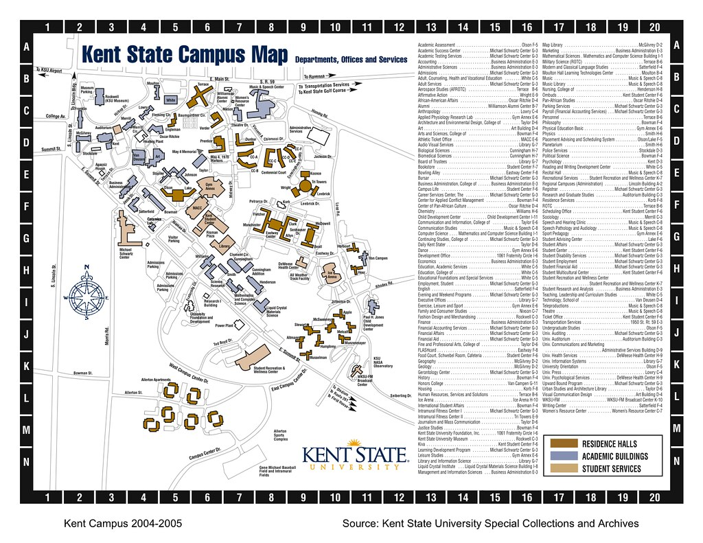 cu campus map pdf Kent State University Campus Map Pdf cu campus map pdf