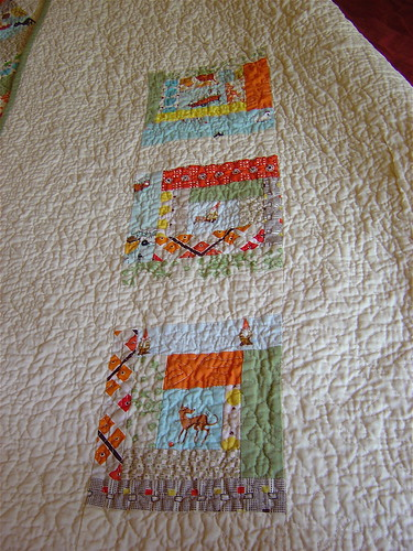 Gender Neutral Baby Quilt Back Close Up | by alissahcarlton