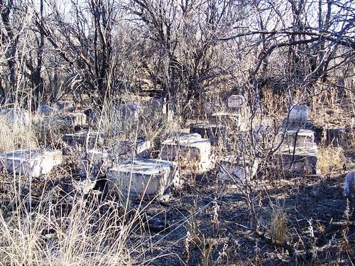 Mysterious Blocks An Old Foundation In The Desert Brush