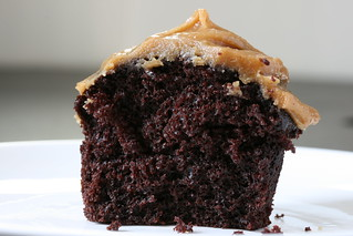 Innards: Chocolate Cupcake with Peanut Butter Frosting | by Sunday Nite Dinner