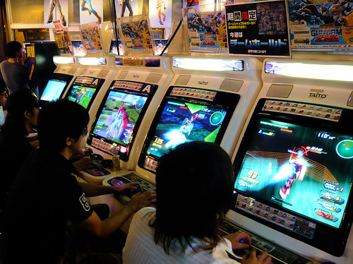 Gundam fighting game - Taito Station - Shibuya - Tokyo ...