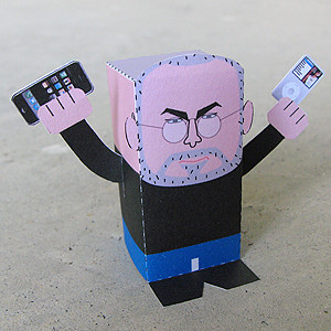 Paper Toy of Steve Jobs from toy-a-day.blogspot.com | by guccio@文房具社