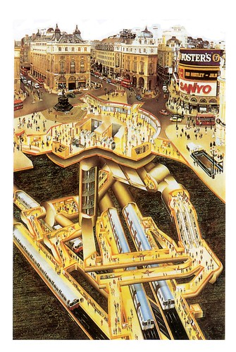 Piccadilly Circus cutaway view | by magpie-moon