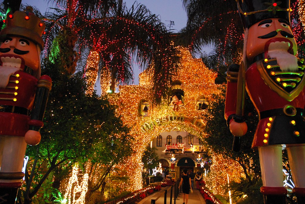 mission inn christmas lights by stevenmiller