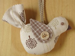 Nutmeg & Linen - Bird Ornament | by PatchworkPottery