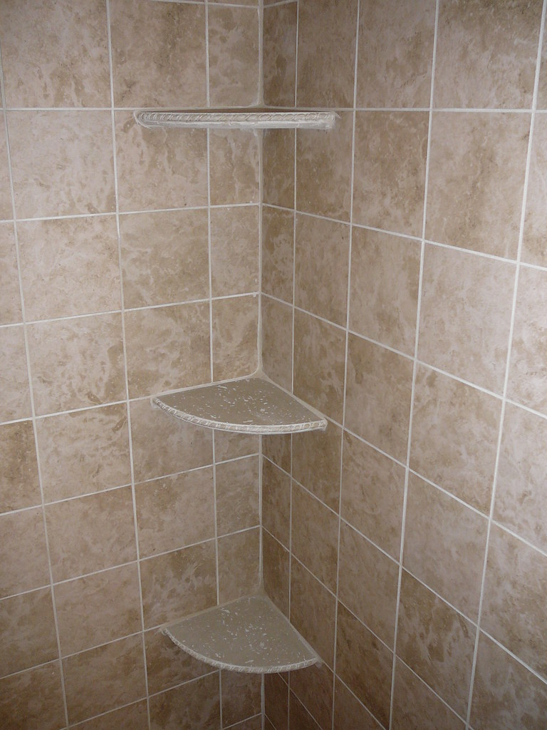 Shower Shelves | This is the shower we actually use, so I ha… | Flickr