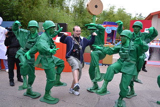 Dan trains to be a Green Army Man at Disney's Dine with the PIXAR Stars | by Castles, Capes & Clones