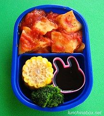 Ravioli and corn bento lunch for preschooler | by Biggie*